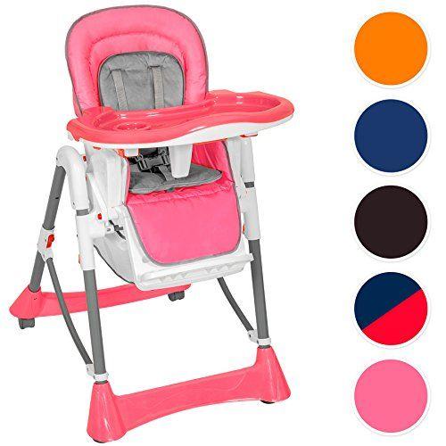 Tectake Confort Chaise Haute De Bebe Pliable Diverses Couleurs Au Choix Rose Chaise Haute Chaise Bebe