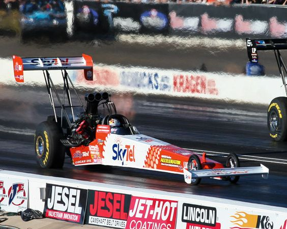 Movement- Larry Dixon drives Don the Snake Prudhomme's Top Fuel dragster from a standing start to the end of the 1320 foot mark (1/4 mile) in under 5 seconds at 300+ miles per hour!