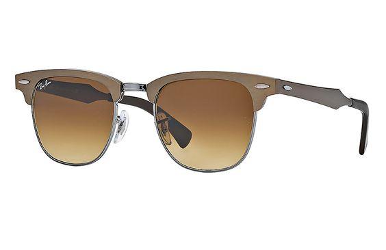 Óculos de Sol Ray-Ban CLUBMASTER ALUMÍNIO CHUMBO | Ray-Ban Brazil