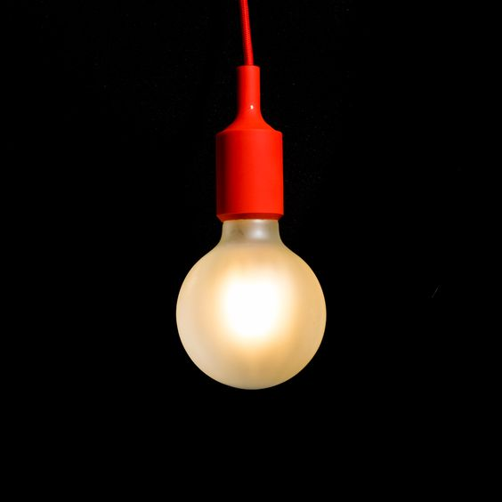 G95 Opaque 6W 2200k plus red silicon pendant...see more at vintageled.com.au