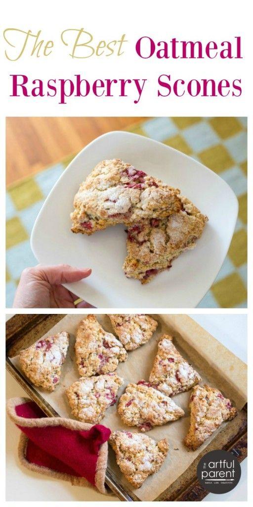 The Best Raspberry Oatmeal Scones   Recipe   Frozen fruit ...