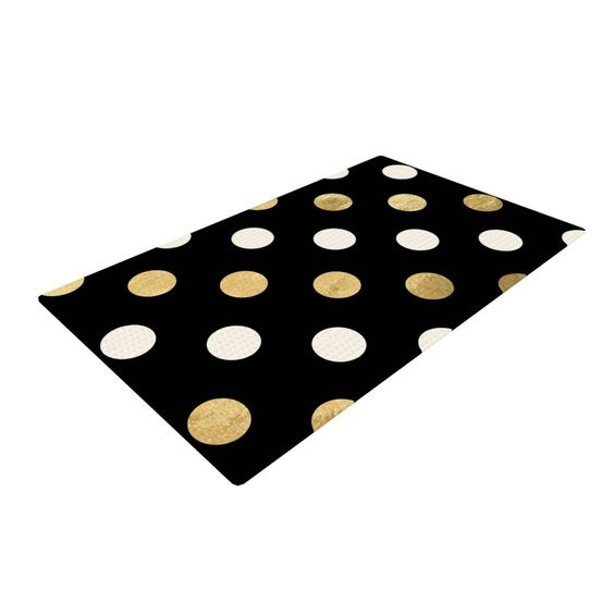 explore dots black black gold and more area rugs black gold dots rugs