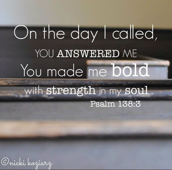 On the day I called you answered me