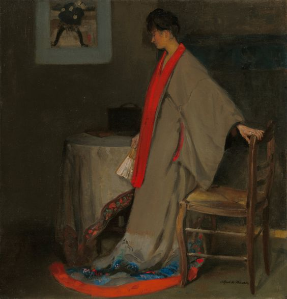 The Athenaeum - Young Woman in Kimono (Alfred Henry Maurer - )