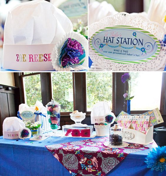 Hat station-make & take your own chef hat-entertainment/craft