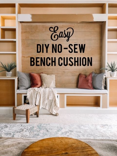 Diy No Sew Bench Cushion With Images Bench Cushions Seat