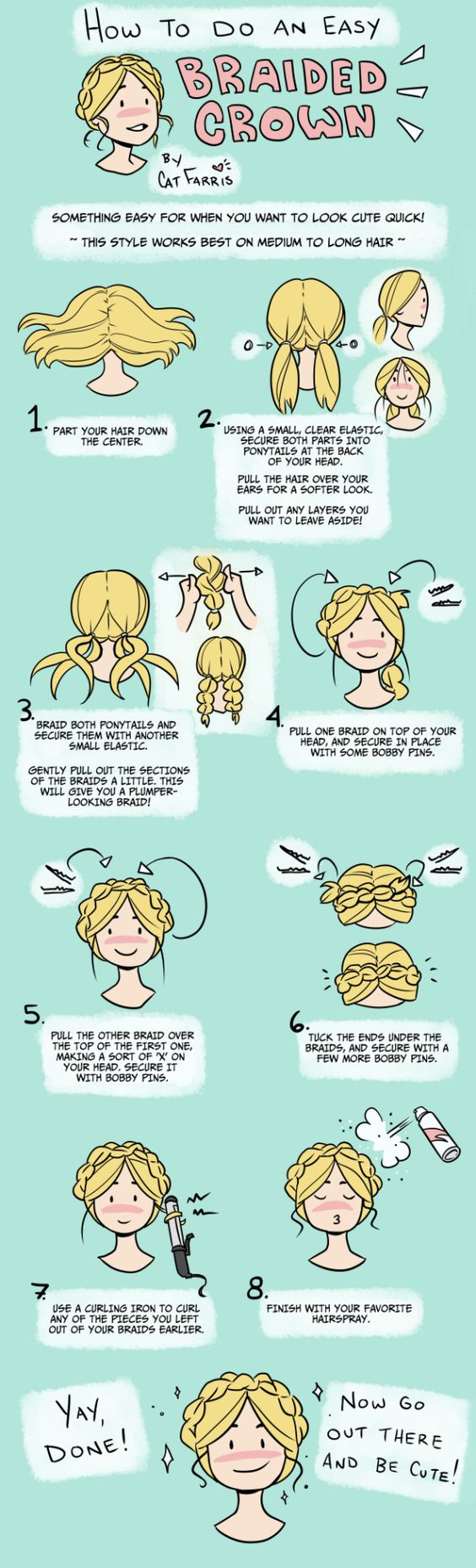 Braided Crown how to. || Clear easy to follow. Simple but obviously so.