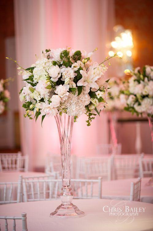 Flower Topper For Tall Glass Vase Centerpiece Vasesdecorwithwater Vase Design Tall Glass Vases Wedding Vases