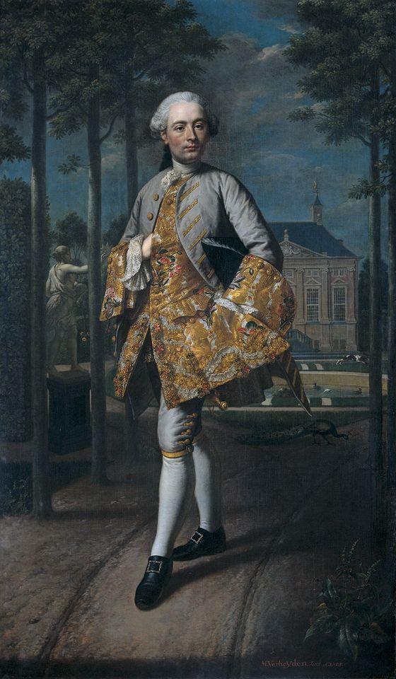 """Mattheus Verheyden -  """"Portrait of Gerard Cornelis van Riebeeck"""" 1755:"""