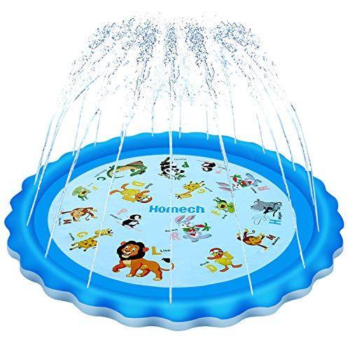 Homech Sprinkler For Kids Splash Pad Outdoor Inflatable Sprinkler Water Toys Wading And Learning 68 Kiddie W In 2020 Water Toys Outdoor Inflatables Water Play Mat