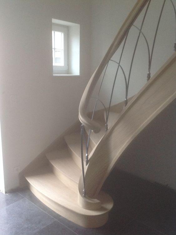 Eiken trap met smeedijzeren balusters landelijke trappen met smeedijzer pinterest met - Railing trap ontwerp ...