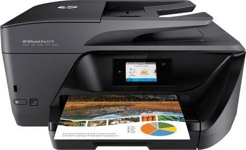 Hp Officejet Pro 6978 Wireless All In One Instant Ink Ready Printer Black Larger Front Hp Officejet Pro Hp Officejet Wireless Printer