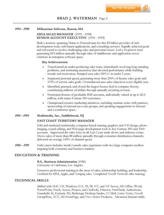 Sample Insurance Agent Resume Template