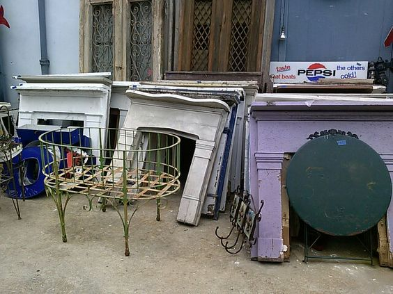 post katrina architectural salvage: fireplace surrounds. french