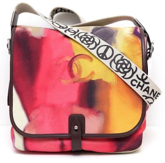 prada crossbody sale - Chanel 15S Messenger Bag FLOWER POWER Tie-Dye Aged Leather Cross ...