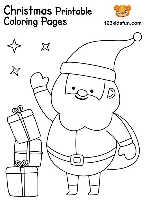 Free Christmas Printable 123 Kids Fun Apps Christmas Coloring Printables Christmas Cards Kids Christmas Worksheets
