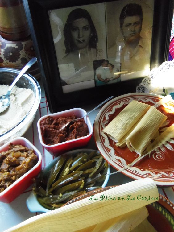 CHILE COLORADO PORK TAMALES  When assembling the tamales, it's best to set up a n assembly line of all the ingredients you will need.
