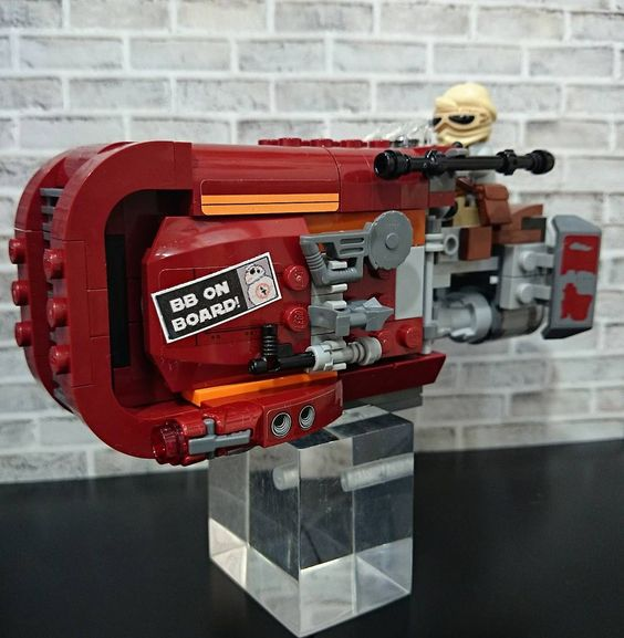 LEGO Rey's Speeder[LEGO StarWars:TheForceAwakens.ver]    #レゴ#レゴスターウォーズ #レイのスピーダー#lego#legostarwars#reys_speeder#legostagram#toyphotograph#toyphotography#toyslagram#toyslagram_lego by ruki_a111