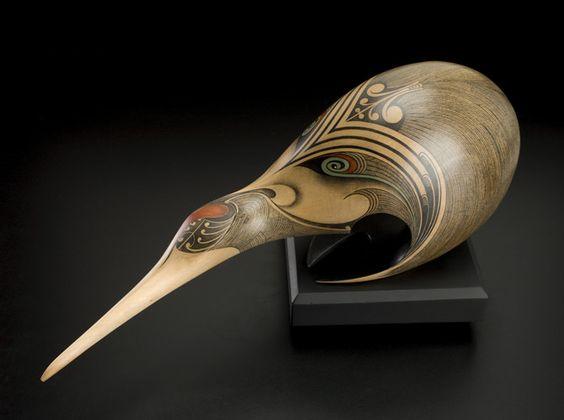 Kiwi • New Zealand Kiwi by Rex Homan, Māori artist (KR80201):