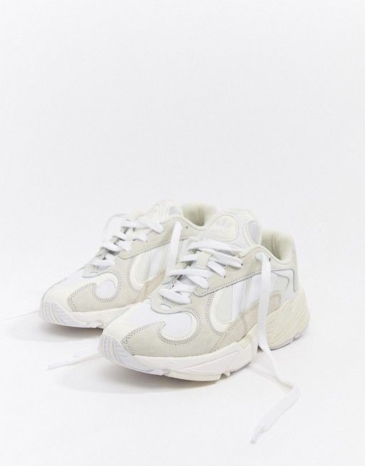 uk availability hot sale look for adidas Originals Yung'1 Trainers In Off White in 2019 ...