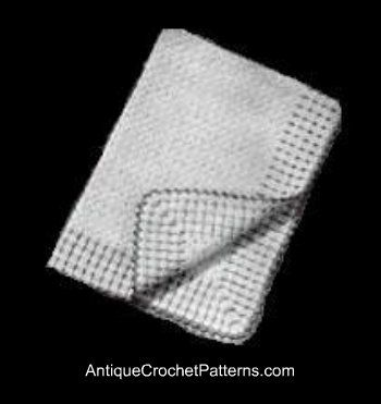 Crochet Baby Blanket - Vintage Carriage Cover
