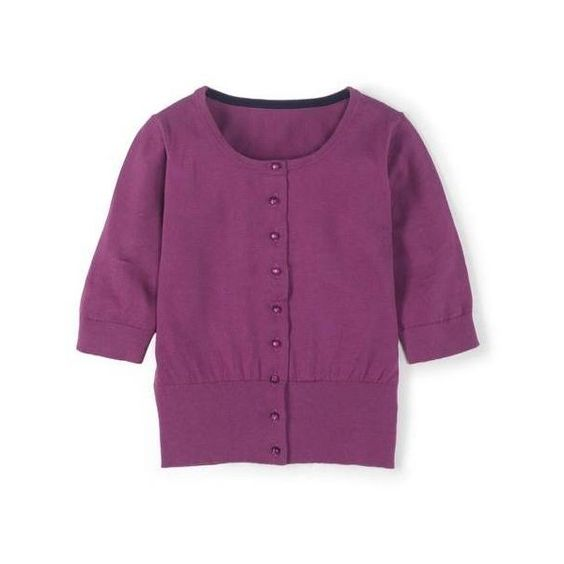 Boden Fifties Cardigan ($78) ❤ liked on Polyvore featuring tops, cardigans, cropped cardigan, purple crop top, crop top, purple cardigan and boden