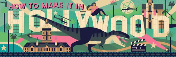 How to Make It in Hollywood - Owen Davey Illustration