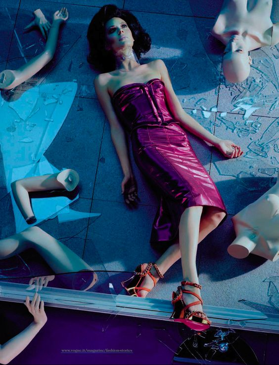 mannequin thriller: kinga rajzak by miles aldridge for vogue italia march 2013: