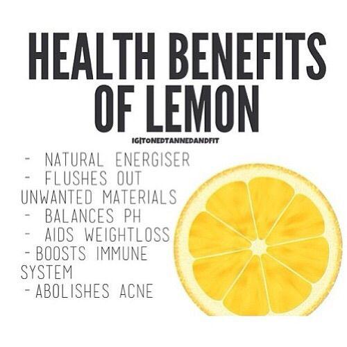 Lemons are good for you! :)