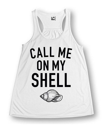 Another great find on #zulily! White 'Call Me On My Shell' Swing Tank #zulilyfinds