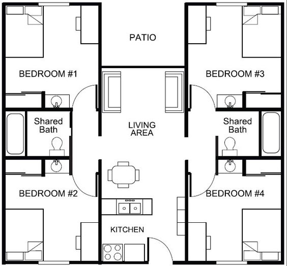 student housing floor plans Google Search Student Housing