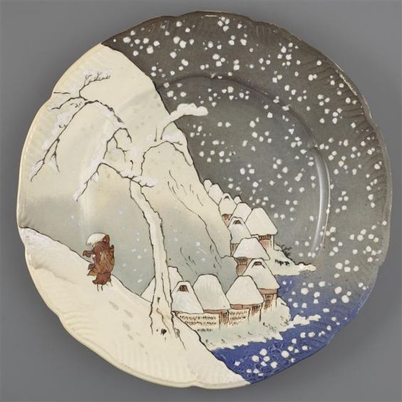 Plate from the Lambert-Rousseau Service, 1873-75 / faïence fine, impression via transfer / musée d'Orsay