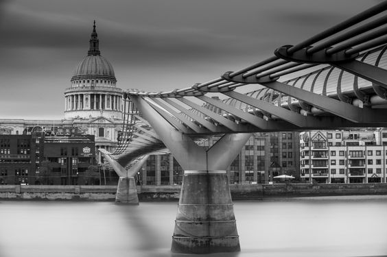 London Fine Art Photo Print: St. Paul's and Norman Fosters Millenium foot Bridge, photograph print by LongExposureLondon on Etsy