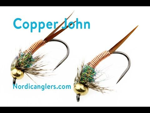 Fly Tying Instruction On How To Tie The Copper John Youtube Fly Tying Fly Fishing Flies Trout Fly Fishing Tips