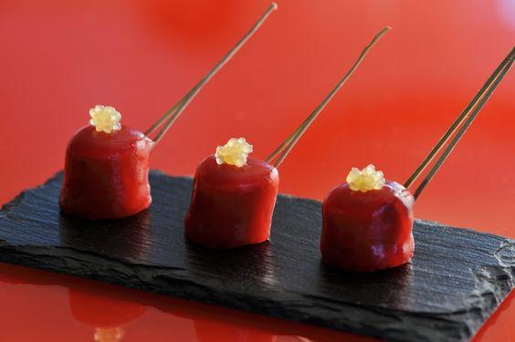 Volaille glacée à la betterave gingembre et citron confit - http://www.palaisroyal-letraiteur.fr