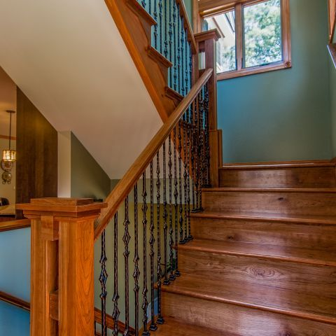 Stairhall in renovated rambler | Residence in Falls Church, Virginia | Ballard Mensua Architecture