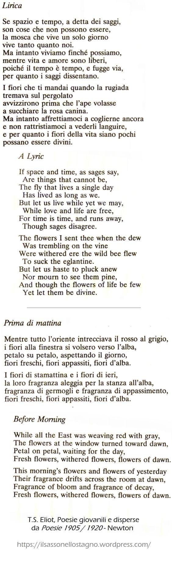T.S.Eliot by Il sasso nello stagno di AnGre