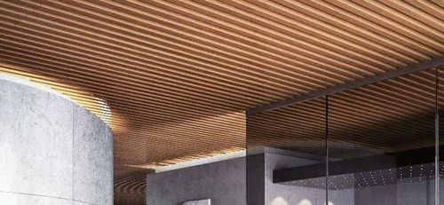 Pannello grigliato in legno per controsoffitto modulatus for Controsoffitto in legno