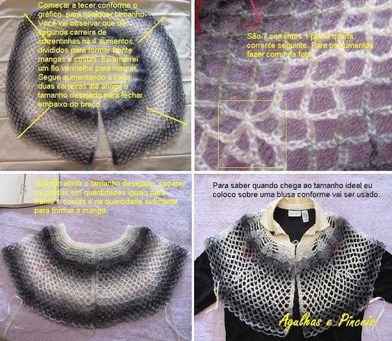 As Receitas de Crochê: Casaco de Crochê Joana