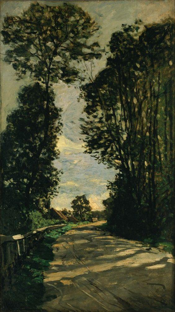 Road to the Saint-Simeon Farm.1864 by Claude Monet