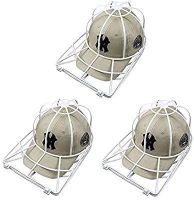 Amazon Com Baseball Hat Washer 3pcs Cap Washer Frame Washing Cage White Cap Hat Visors Shaper Ball Cap Sport Hat Clea How To Clean Hats Ball Cap Cap Organizer