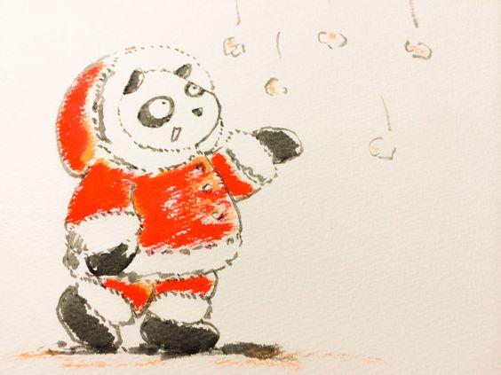 2014.2.7 【一日一パンダ】 この時期を立春ではなく立冬にしよう。。。 だって寒いよ2月。