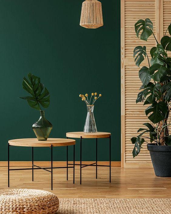 Tendances 2021 Guide Deco Design Et Peinture In 2021 Green Interior Decor Green Interiors Living Room Green Decoration living room colorful green
