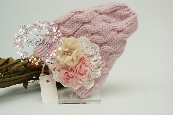 Embellished beanies, vintage inspired, #Crochetkufihat #australiasupplier #sequin #lace flower