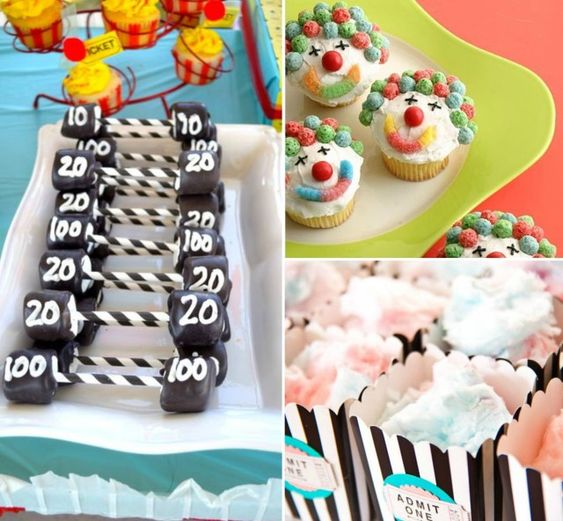 Circus Themed Party Treats by @Savvy Sassy Moms - #socialcircus
