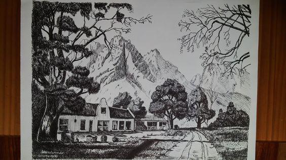 Pen and ink- copy after Tinus de Jong- Rita