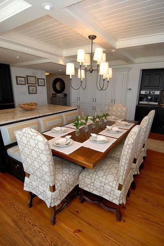 Booth Dining Tables For Home Dining Kitchen Love How Island Is