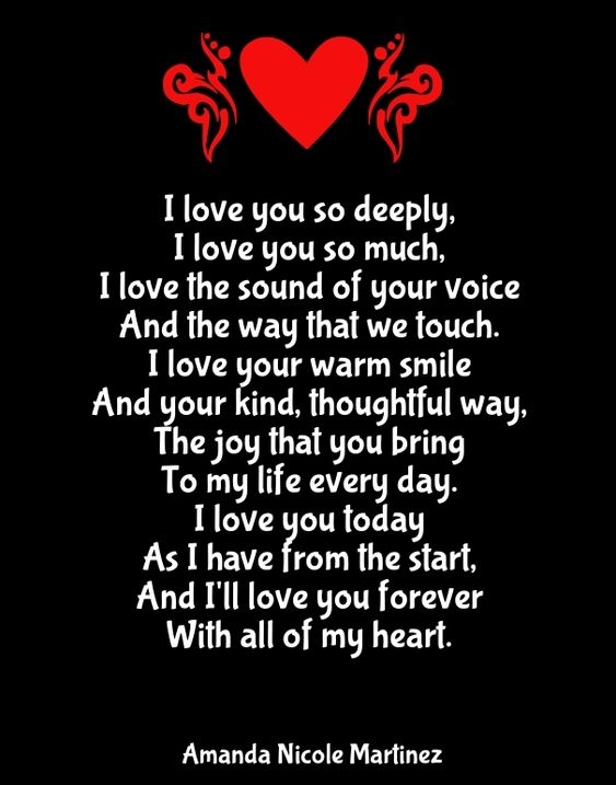 I Love You Quotes And Poems : ... love love you love you poems reasons i love you i love you love u so