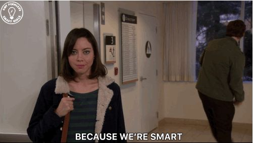 funny cute lol parks and recreation parks and rec chris pratt aubrey plaza april ludgate andy dwyer smart because were smart