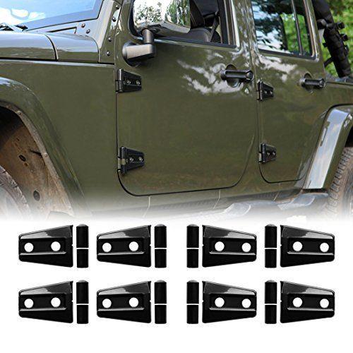 Iparts 8 Pcs Black Door Hinge Cover For 4 Door Jeep Wrangler Jk Jku Unlimited Rubicon Sahara X Off Road Sport Exterior Accessories Parts 2007 2008 2009 2010 201 Jeep Wrangler 4 Door Jeep Wrangler Jeep Wrangler Doors